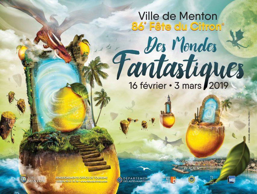 Affiche Fête du citron Menton